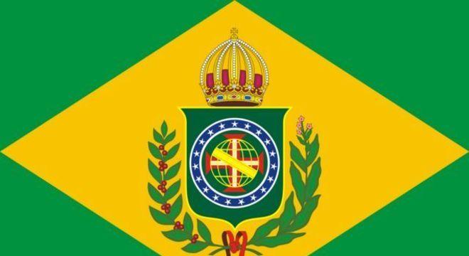 A bandeira imperial, usada de 1822 a 1889, foi inspiração para a atual bandeira nacional