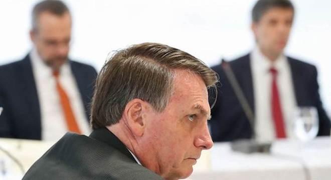 Bolsonaro no dia 22 de abril, quando teve reunião cujo vídeo pode vir a público