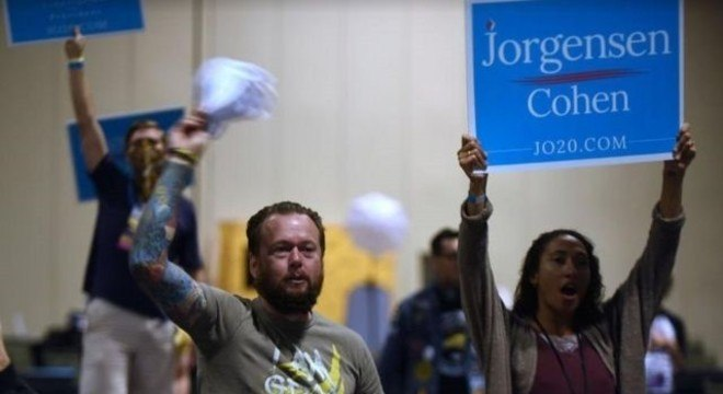 Jo Jorgensen somava 1,1% dos votos até esta quinta-feira