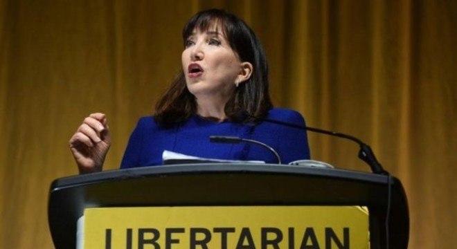 Jo Jorgensen é a primeira candidata do Partido Libertário à presidência dos EUA