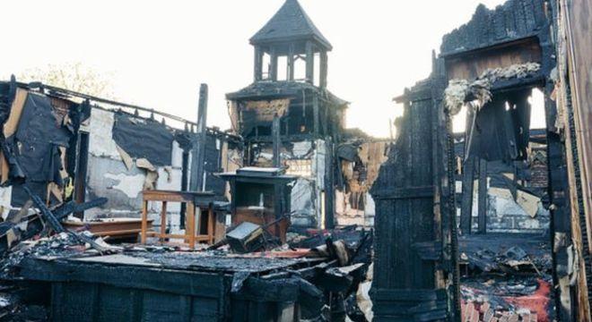A Igreja Batista Mount Pleasant, em Opelousas, foi incendiada no 4 de abril de 2019