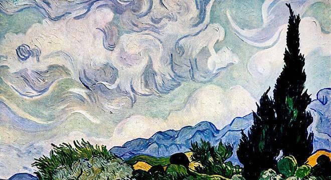 Campos de trigo e ciprestes foram um tema comum para o artista