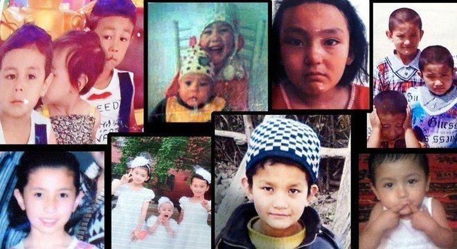 """""""Procura-se"""" na China; alguns dos retratos de família entregues na Turquia por pais uigures procurando por informação sobre suas crianças em Xinjiang"""