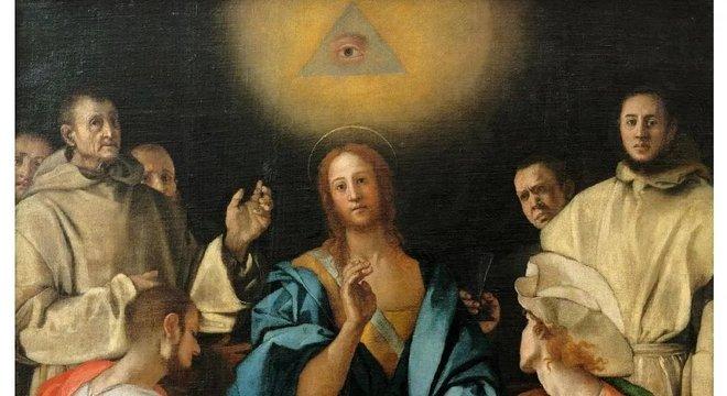 """""""Ceia em Emaús"""", pintado pelo renascentista Portormo, em 1525"""