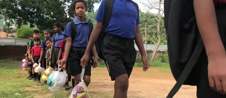 Escola fica na índia