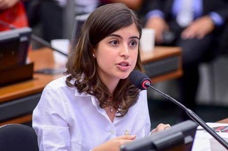 Deputada Tabata Amaral, no plenário