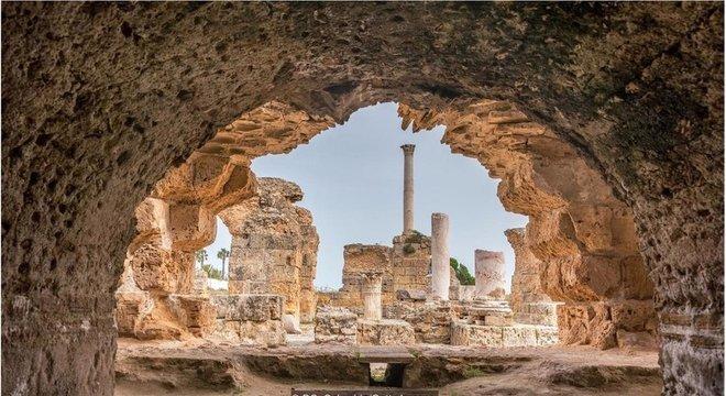 A Termas de Antonino, em Túnis, é um dos maiores espaços romanos destinados a banhos públicos do mundo