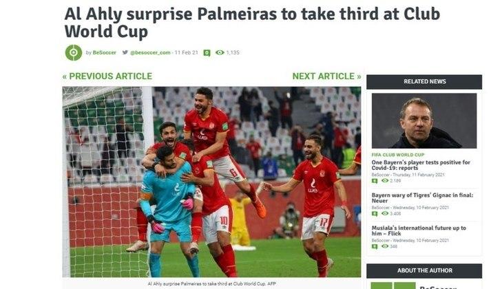 Be Soccer - A versão inglesa da 'Be Soccer' destacou que o Palmeiras foi surpreendido peloAl Ahly.