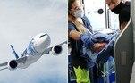 A bebê acima não poderia ter escolhido melhor hora para nascer: ela veio ao mundo em um avião que fazia a rota Cairo-Londres, o que lhe garantiu passagens aéreas gratuitas pelo resto da vida
