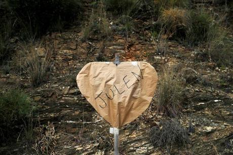 Homenagem deixada para Julen, na Espanha