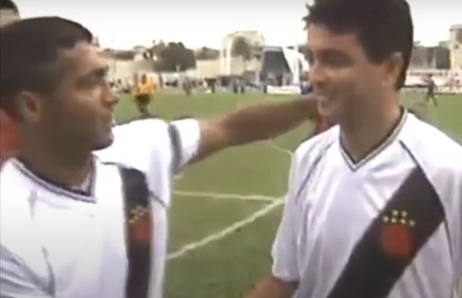 Bebeto e Romário: jogaram juntos no Flamengo e Vasco