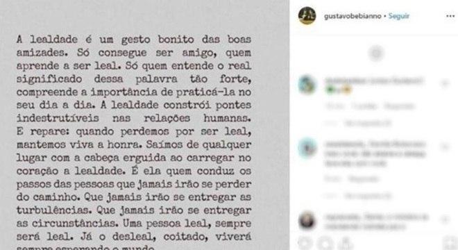 Bebianno desabafou nas redes sociais após conversa com Bolsonaro