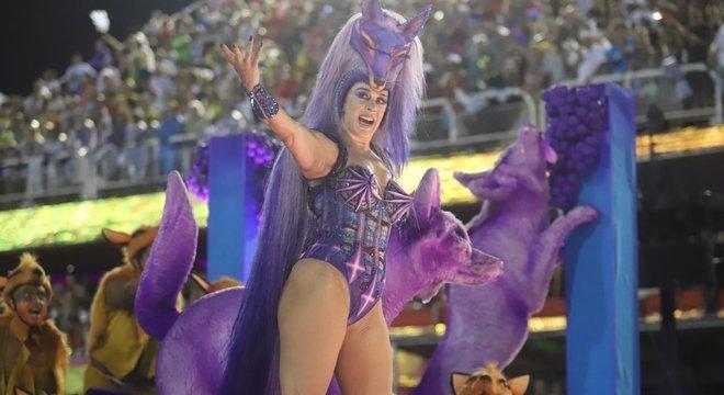 Claudia Raia foi destaque na segunda alegoria