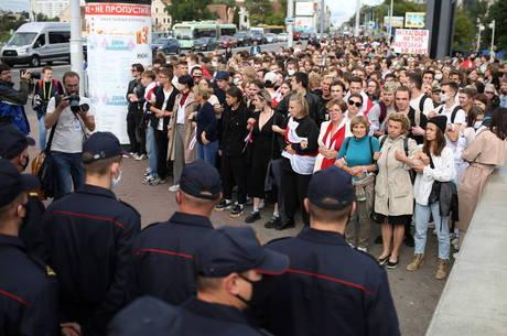 11 pessoas foram presas em protestos em Minsk