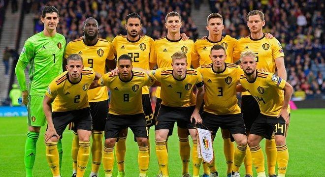 Bélgica, os onze do jogo da classificação
