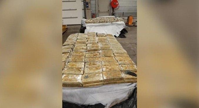 A  Polícia Federal belga apreendeu pouco menos de 28 toneladas de cocaína
