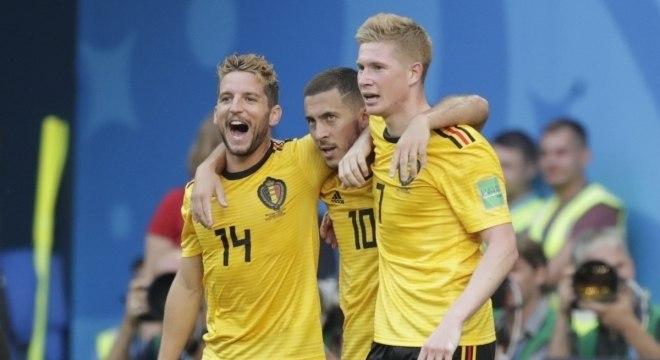A alegria dos belgas. Derrubaram dois gigantes: Brasil e Inglaterra