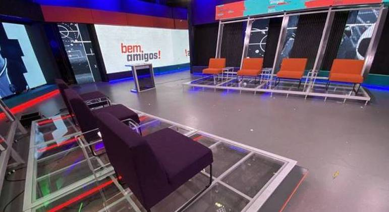 """Novo cenário do """"Bem Amigos!"""", programa do Galvão Bueno no """"SporTV"""""""