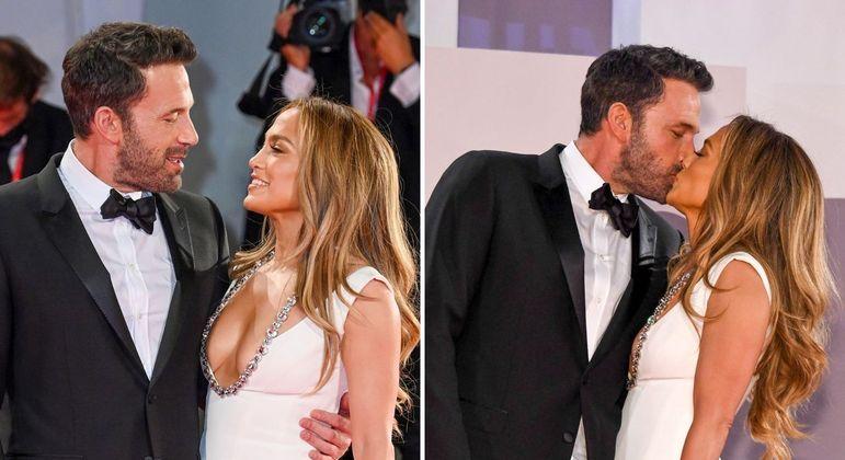 Ben Affleck e Jennifer Lopez desfilam juntos no red carpet 18 anos após a última vez