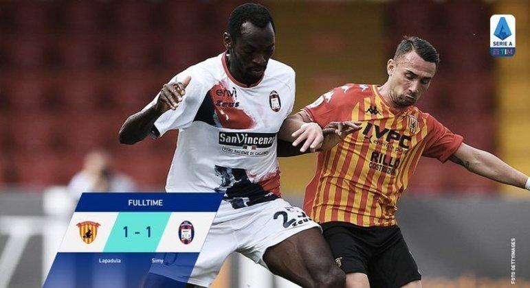 O Benevento, um empate desastroso sofrido nos acréscimos