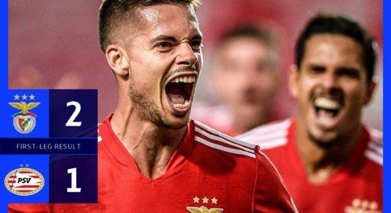 Benfica, uma vitória apertada sobre o PSV