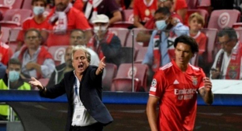 Benfica x Barcelona - Darwin Núñez e Jorge Jesus