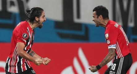 Benítez vibra com primeiro gol pelo São Paulo