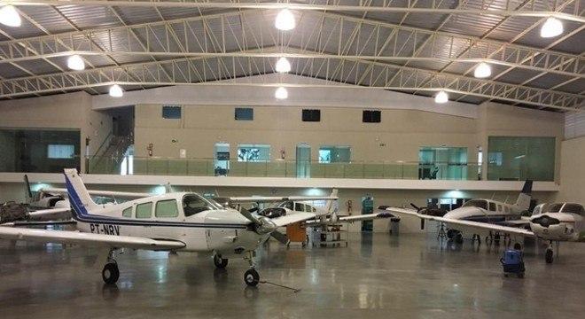 Aviões apreendidos em operação da PF, contra quadrilha de tráfico internacional