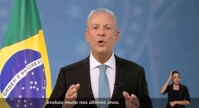 O ministro de Minas e Energia, Bento Albuquerque faz pronunciamento sobre  a crise hídrica