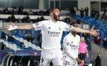 18º Karim Benzema: Principal nome do Real Madrid na temporada, o francês tem 15 gols na La Liga. Ele também tem 30 pontos na Chuteira de Ouro