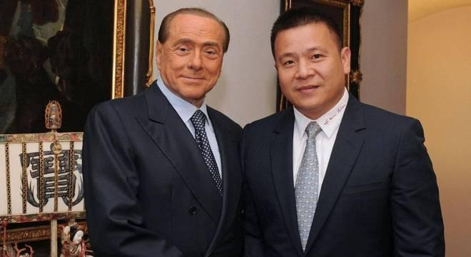 Berlusconi e Li, do Milan