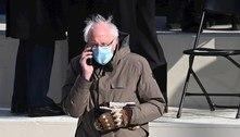 Luvas usadas por Sanders na posse se destacam nas redes sociais