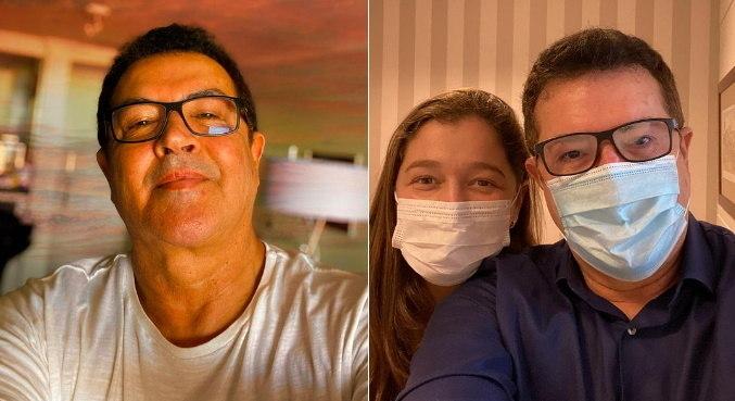 Ao lado de enfermeira, Beto Barbosa compartilhou resultado de exames
