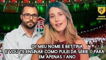 Como seria a Bettina torcedora de clubes brasileiros? Confira!<br> (Reprodução)