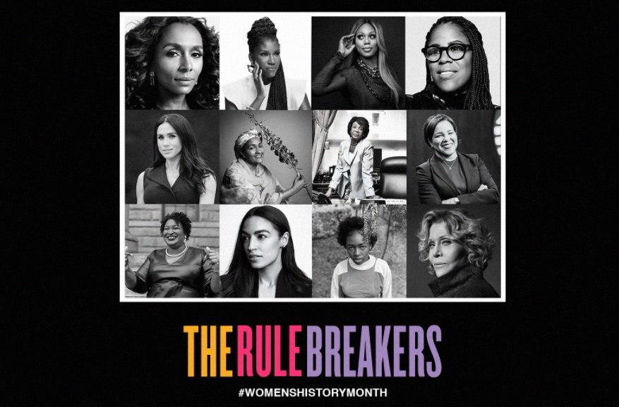 Montagem feita por Beyoncé com diversas figuras femininas em destaque, incluindo Meghan Markle