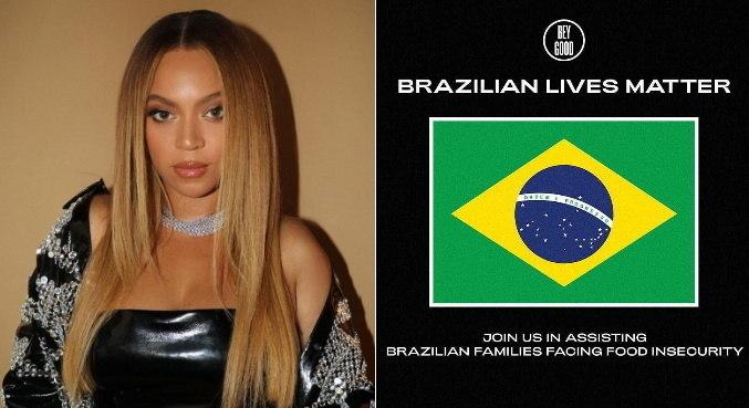 Campanha divulgada por instituição de Beyoncé foca em ajudar brasileiros