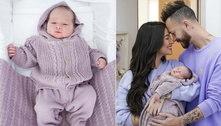 Bianca Andrade publica fotos do filho e diz: 'Olhinhos do papai'