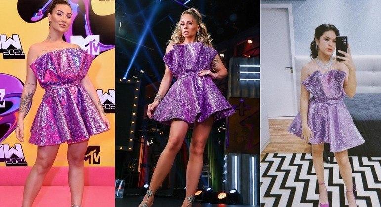 Bianca Andrade, Adriane Galisteu e Maisa usaram o mesmo vestido em diferentes ocasiões
