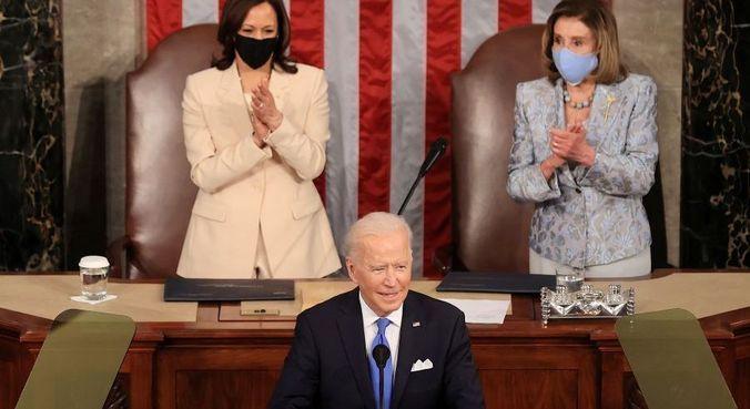 Biden faz primeiro discurso ao Congresso dos Estados Unidos