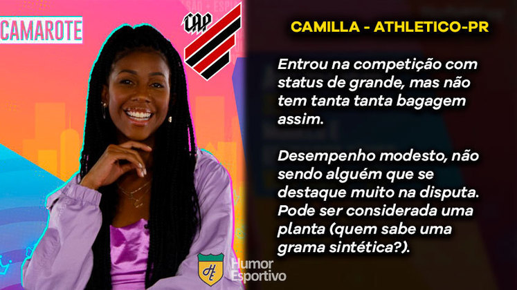 Big Brother Brasil e Brasileirão: Camilla de Lucas seria o Athletico Paranaense