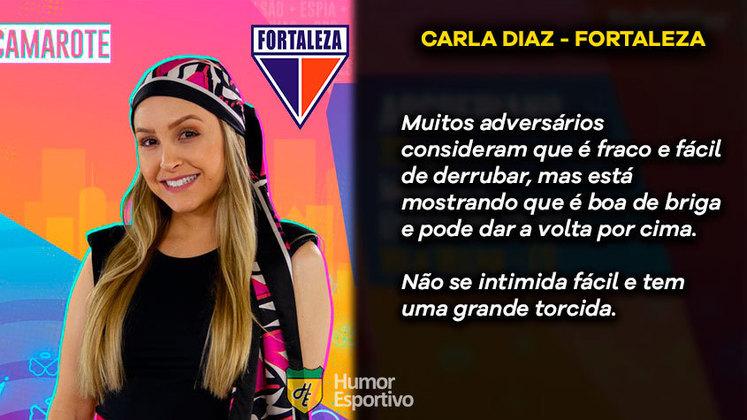 Big Brother Brasil e Brasileirão: Carla Diaz seria o Fortaleza