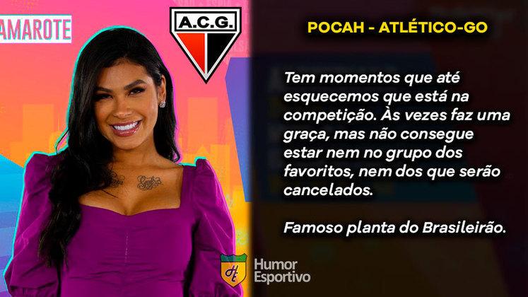 Big Brother Brasil e Brasileirão: Pocah seria o Atlético-GO