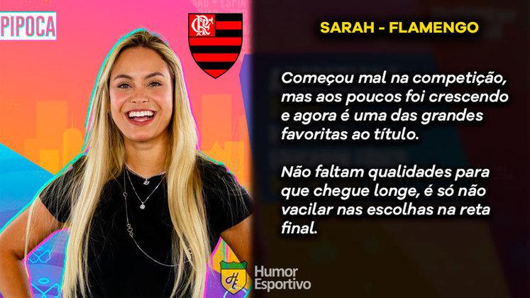 Big Brother Brasil e Brasileirão: Sarah seria o Flamengo