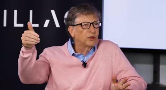 Bill Gates em entrevista durante evento de inovação