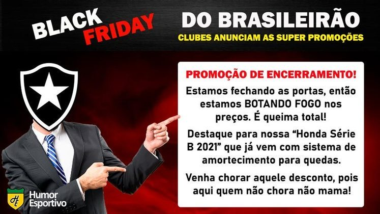 Black Friday: a promoção do Botafogo