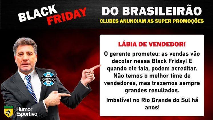 Black Friday: a promoção do Grêmio