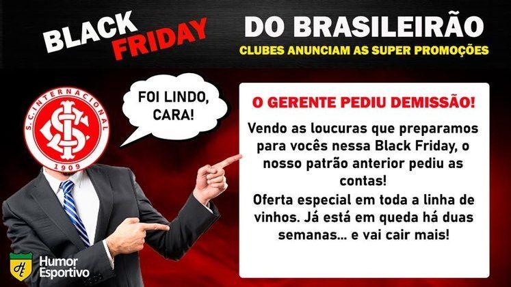 Black Friday: a promoção do Internacional
