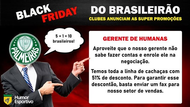 Black Friday: a promoção do Palmeiras