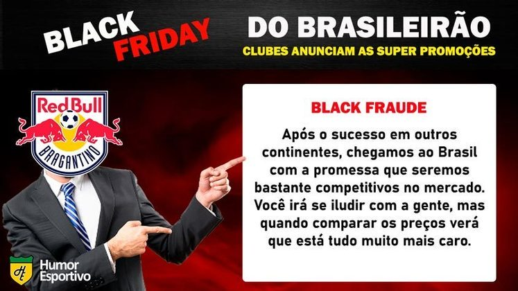 Black Friday: a promoção do Red Bull Bragantino