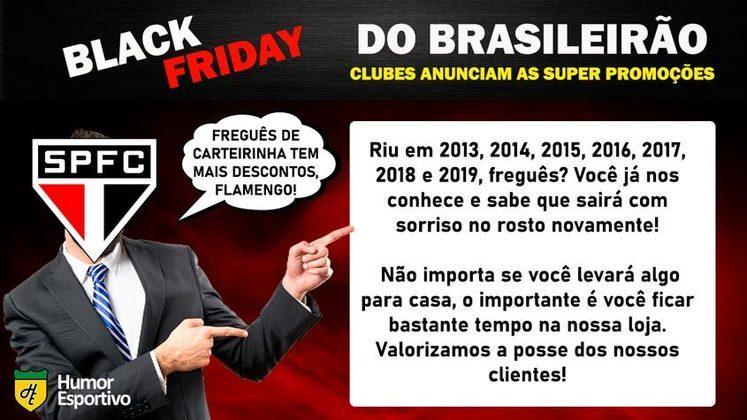 Black Friday: a promoção do São Paulo